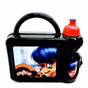 Miraculous Ladybug Hard Lunch Box and Bottle Set