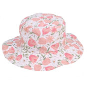 Ladies Flowery Sun Hat Wide Brim