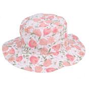 Ladies Flowery Sun Hat Wide Brim