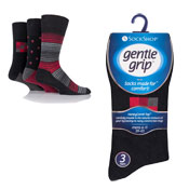 Mens Gentle Grip Broad Assorted Patterns Socks