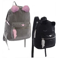 Cat Design Backpack