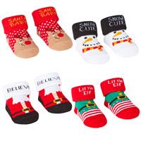 Baby Christmas Socks in Gift Bag