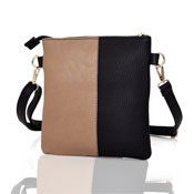 Ladies Hailey Split Design Crossbody Bag Black