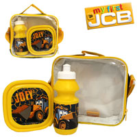 Official Joey JCB 3 Piece Lunch Bag Set Black