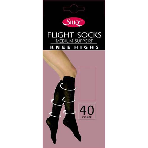 Flight Socks Medium Support Knee Highs