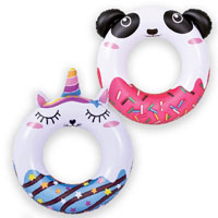 Inflatable Swim Ring Unicorn And Panda