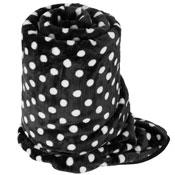 Faux Fur Mink Spotty Blanket Black