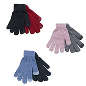 Ladies 2 Pack Touchscreen Gloves Assorted