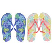 Ladies Leaf Print Flip Flop
