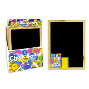 Chalk Board With 6 Chalks and Duster