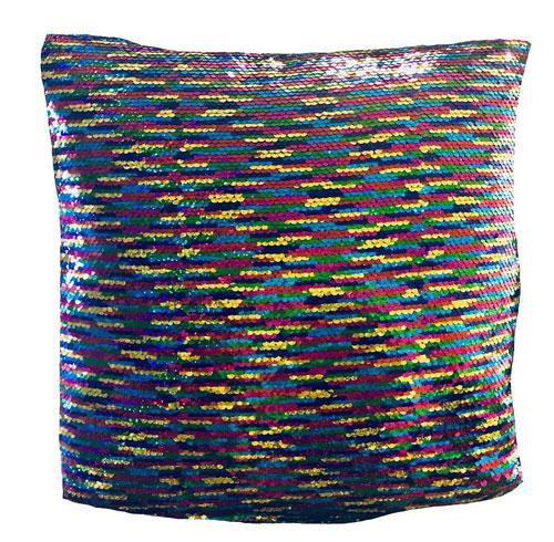 Reversible Rainbow Mermaid Sequin Filled Cushion