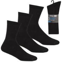 Boys 3 Pack Sports Socks Black