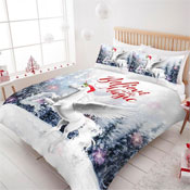 Believe In Magic Unicorn Christmas Duvet Set