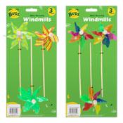 Mini Garden Windmills 3 Pack