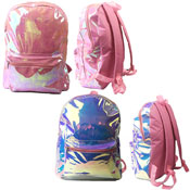 Large Iridescent High Fashion Backpack