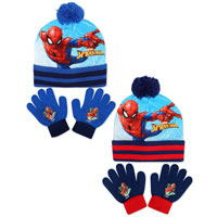 Official Boys Spiderman Hat And Glove Set