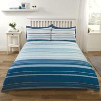 Stratford Stripe Blue Duvet Set