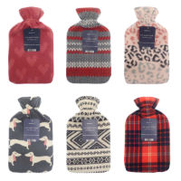 On Trend Design Hot Water Bottles With Fleece Covers