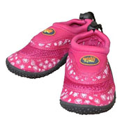 Kids Aqua Velcro Shark/Flower Shoes