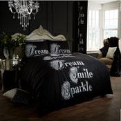 Modern Style Duvet Cover Set Black