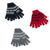 Ladies Snowflake Touchscreen Gloves Assorted
