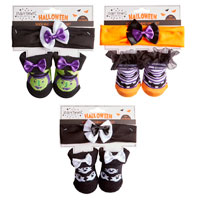 Baby Halloween Socks With Headband
