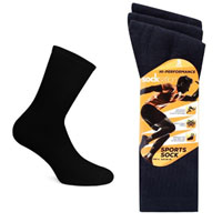 Mens Socksation Hi-Performance Sport Socks Black