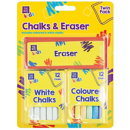 Chalk & Eraser Set 13 Piece
