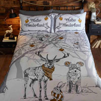 Christmas Duvet Set Winter Wonderland Gold