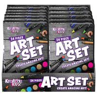 24 Piece Art Set In Display Box