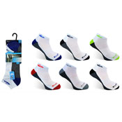 Mens ProHike Cushioned Sole Trainer Socks Coloured Heel Carton Price