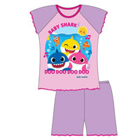Official Girls Baby Shark Shortie Pyjamas