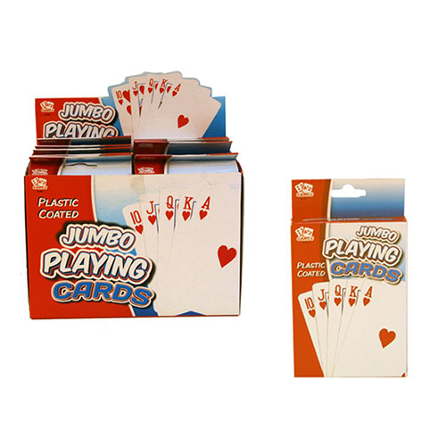Jumbo Playing Cards With Plastic Coating