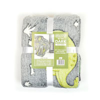 Dino Print Glow In The Dark Blanket Throw