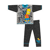 Older Boys Bart Simpsons Pyjama Set