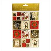 Self Adhesive Traditional Christmas Gift Tags