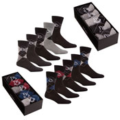 Pierre Roche Argyle Socks in a Box Mens