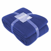 Fleece Blanket Plain Blue