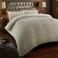 Super Soft Metallic Star Duvet Set Cream/Gold