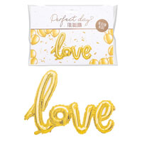 Gold Love Foil Balloon