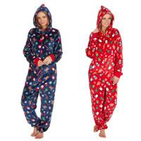 Ladies Novelty Christmas Onezee with Hood