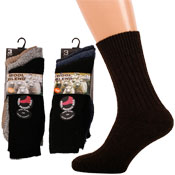 Mens Wool Blend Heat Trap Socks