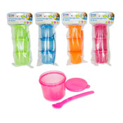 Food Storage Pots & Spoons
