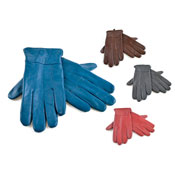 Ladies Coloured Leather Gloves