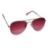 Girls Aviator Sunglasses Rose Gold