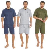 Mens V Neck T Shirt And Shorts Set Placement Print