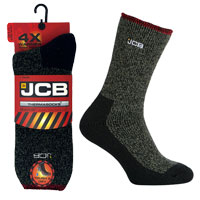 JCB 1 Pair Mens Thermasock Work Sock 9-12