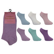 4-6 Pastel Trainer Socks Assorted