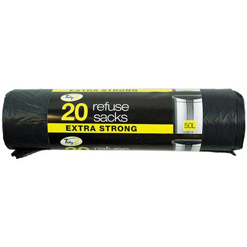 20 Extra Strong Refuse Sacks