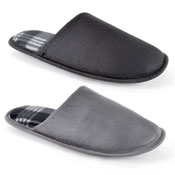 Mens Soft Fleece Slippers Novelty Dark